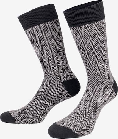 PATRON SOCKS Čarape 'Black & White Socks' u crna / bijela, Pregled proizvoda