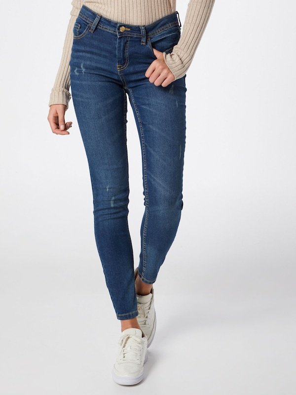 JACQUELINE de YONG Jeans 'JDYMAGIC SKINNY RW MEDIUM BLUE NOOS DNM' in blue denim, Modelansicht