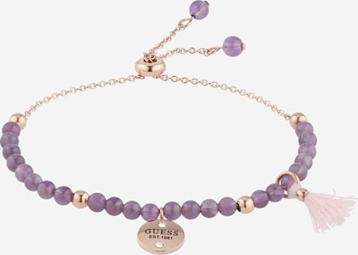 GUESS Armband in gold / lila / rosé, Produktansicht