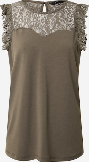 Vero Moda Tall Top 'VMALBERTA SWEETHEART LACE S/L TOP  TALL' in grün / khaki, Produktansicht