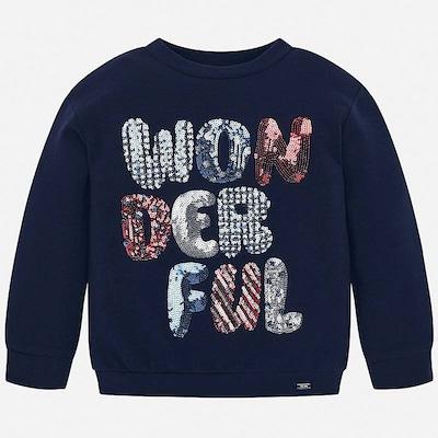 Mayoral Sweatshirt in navy / rot / silber, Produktansicht