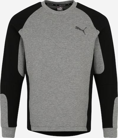 PUMA Sweat de sport 'EVOSTRIPE Crew' en gris / noir, Vue avec produit