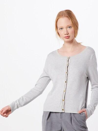 Cream Cardigan in hellgrau / graumeliert, Modelansicht