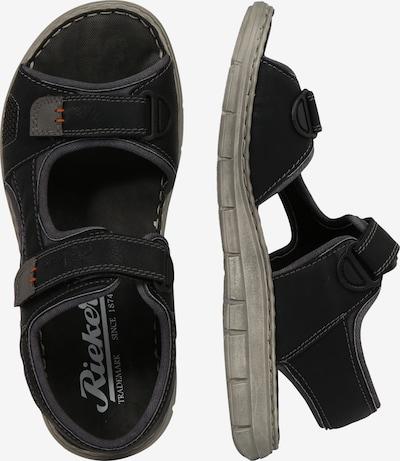 RIEKER Sandalen in de kleur Donkergrijs / Zwart: Zijaanzicht