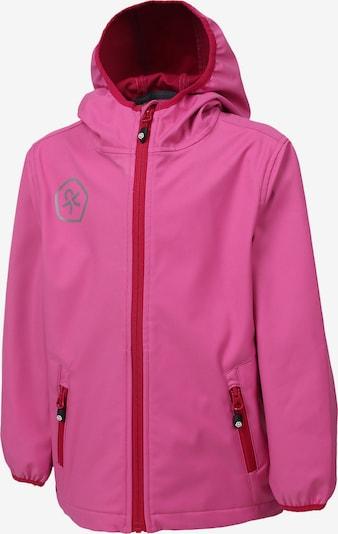 COLOR KIDS Softshelljacke 'Barkin' in grau / pink / knallrot, Produktansicht