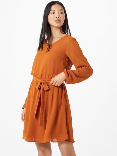 VILA Kleid in hellbraun / bronze / dunkelorange, Modelansicht