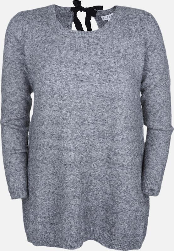 Zhenzi Strickpullover 'BILBOE' in grau  Markenkleidung für Männer und Frauen
