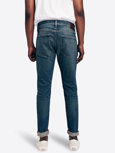 Jeans ' BTS19-SUPER SKINNY DK R&R 1CC ' Abercrombie & Fitch pe denim albastru: Privire spate