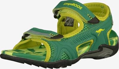 KangaROOS Sandalen in gelb / grün, Produktansicht