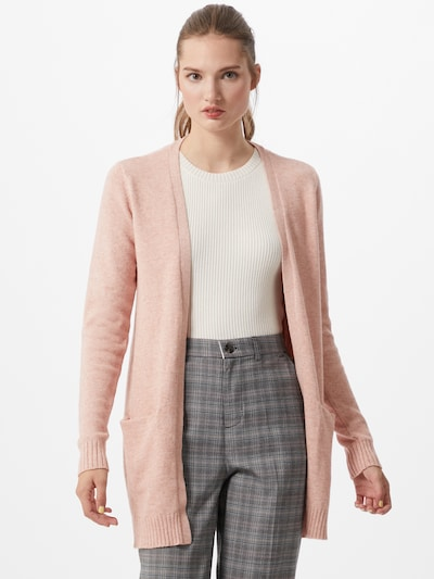 VILA Pletena jopa | staro roza barva, Prikaz modela