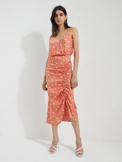 EDITED Sukienka 'Claire' w kolorze koralowy / białym, Podgląd na modelu(-ce)