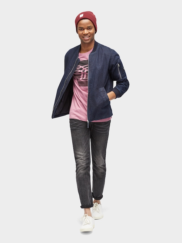 TOM TAILOR DENIM T-Shirt mit Logo-Print