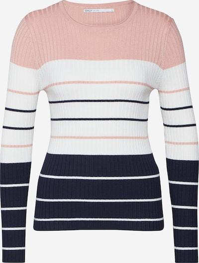 ONLY Pullover 'NATALIA' in blau / rosa / weiß, Produktansicht