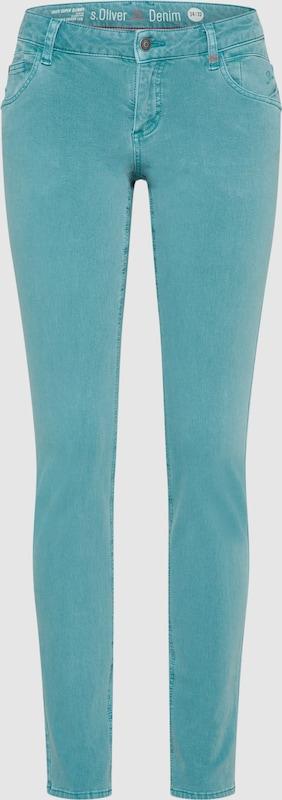 S.Oliver rot LABEL Jeans 'SHAPE SUPERSKINNY' in himmelblau  Bequem und günstig