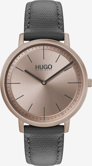 HUGO Uhr 'Express' in rosegold / schwarz, Produktansicht