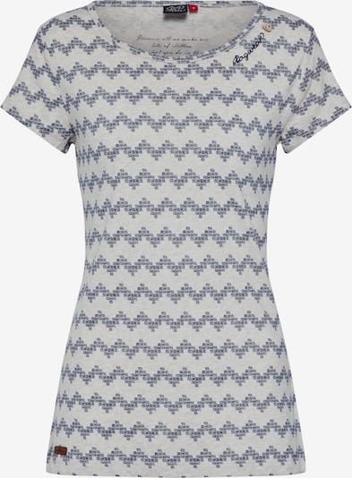 Ragwear T-Shirt 'MINT ZIG ZAG' in beige / hellgrau, Produktansicht