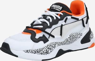 PUMA Baskets basses 'DOODLE' en gris / graphite / orange / blanc, Vue avec produit