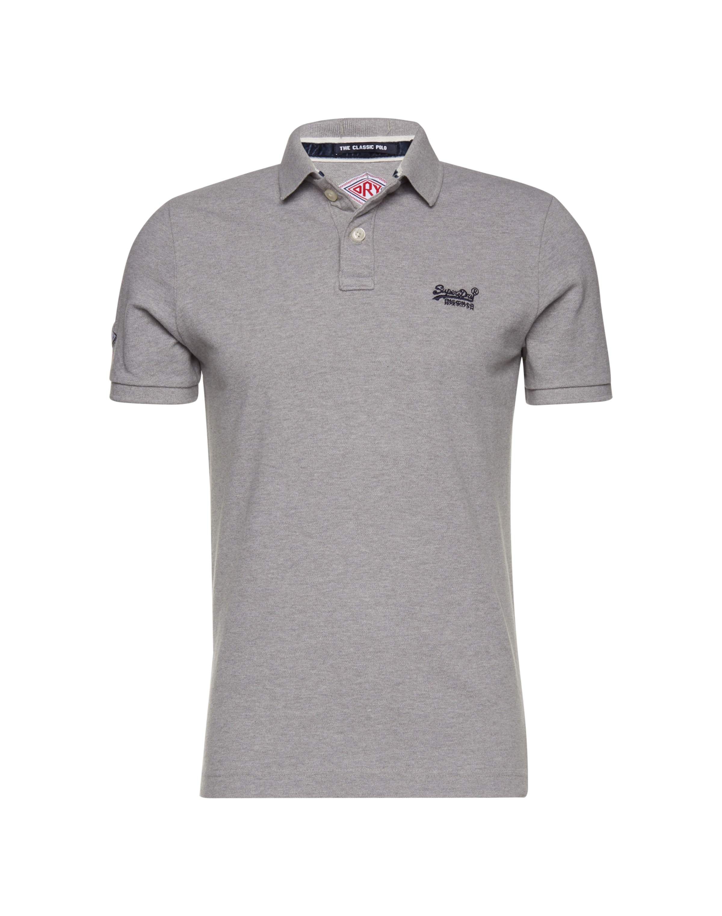 s Superdry Poloshirt Graumeliert Pique S 'classic Polo' In TJKF1c3l