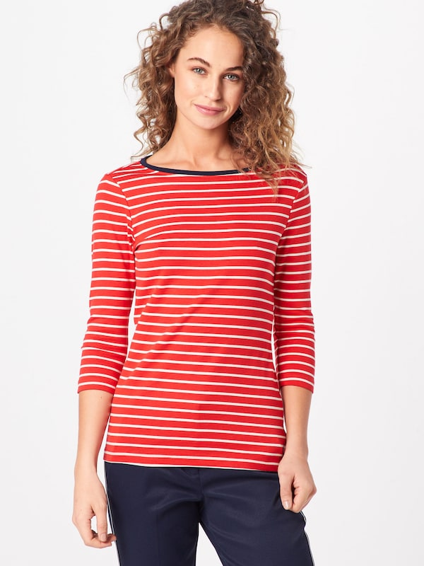 Tom En Tailor RougeBlanc shirt T cq3L54jAR