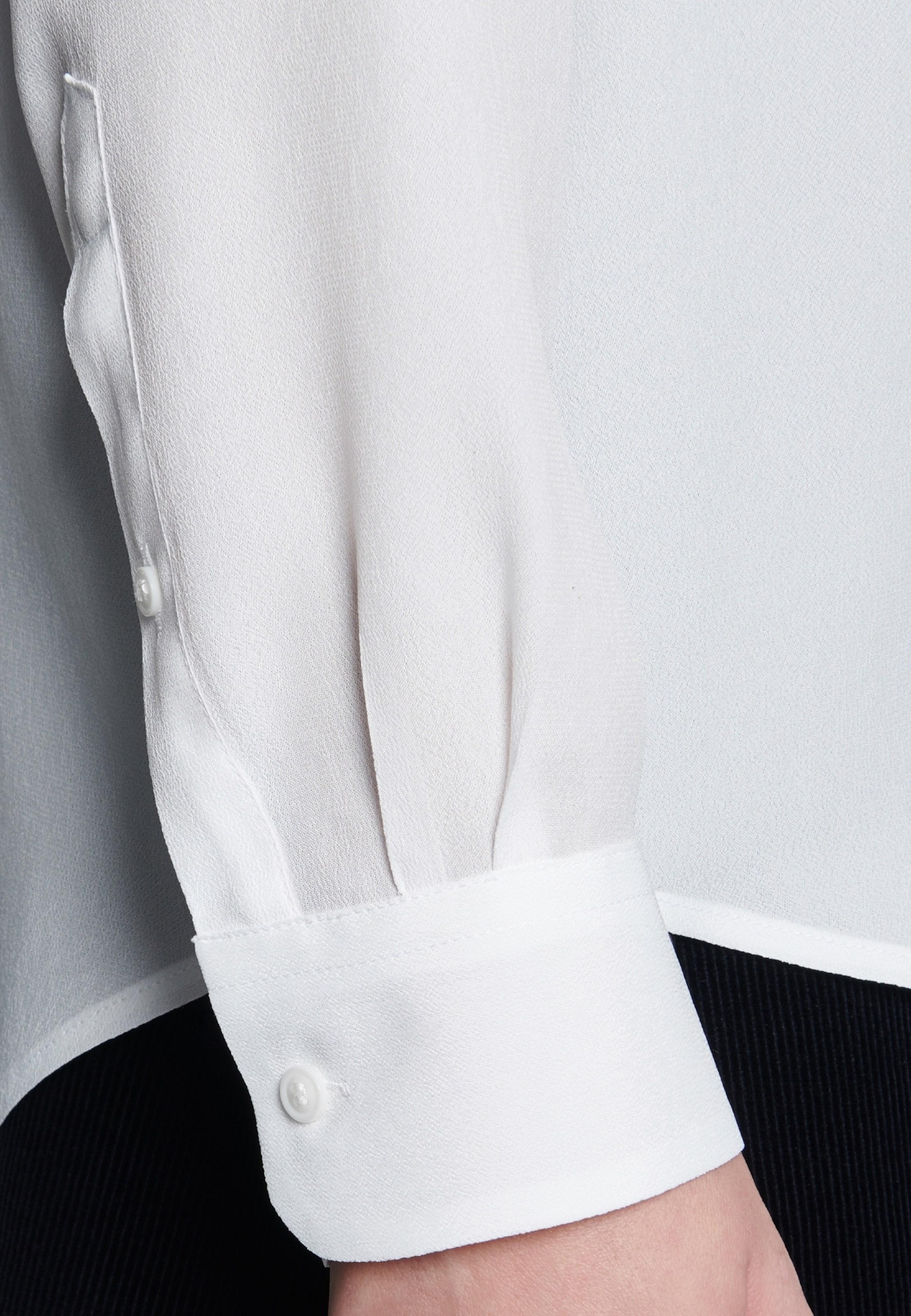 Schwarze En Seidensticker Blanc Chemisier ' Rose nkwO08P