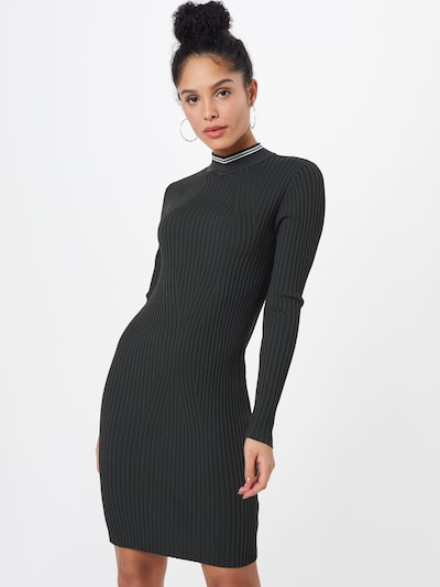 G-Star RAW Strickkleid 'Lynn mock turtle dress' in grau, Modelansicht