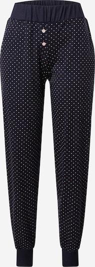CALIDA Pantalon de pyjama en bleu foncé / rose / blanc, Vue avec produit