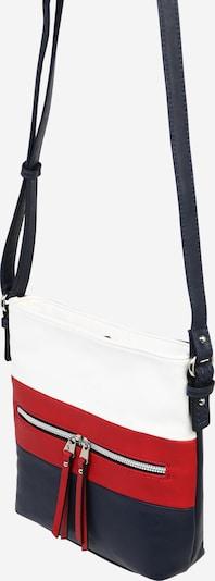 TOM TAILOR Torba za čez ramo 'ELLEN Crossbag' | modra / rdeča / bela barva, Prikaz izdelka