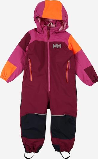 HELLY HANSEN Sportanzug 'Rider 2' in marine / grau / lila / dunkellila / orange, Produktansicht