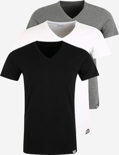 DIESEL T-Shirt in grau / schwarz / weiß, Produktansicht