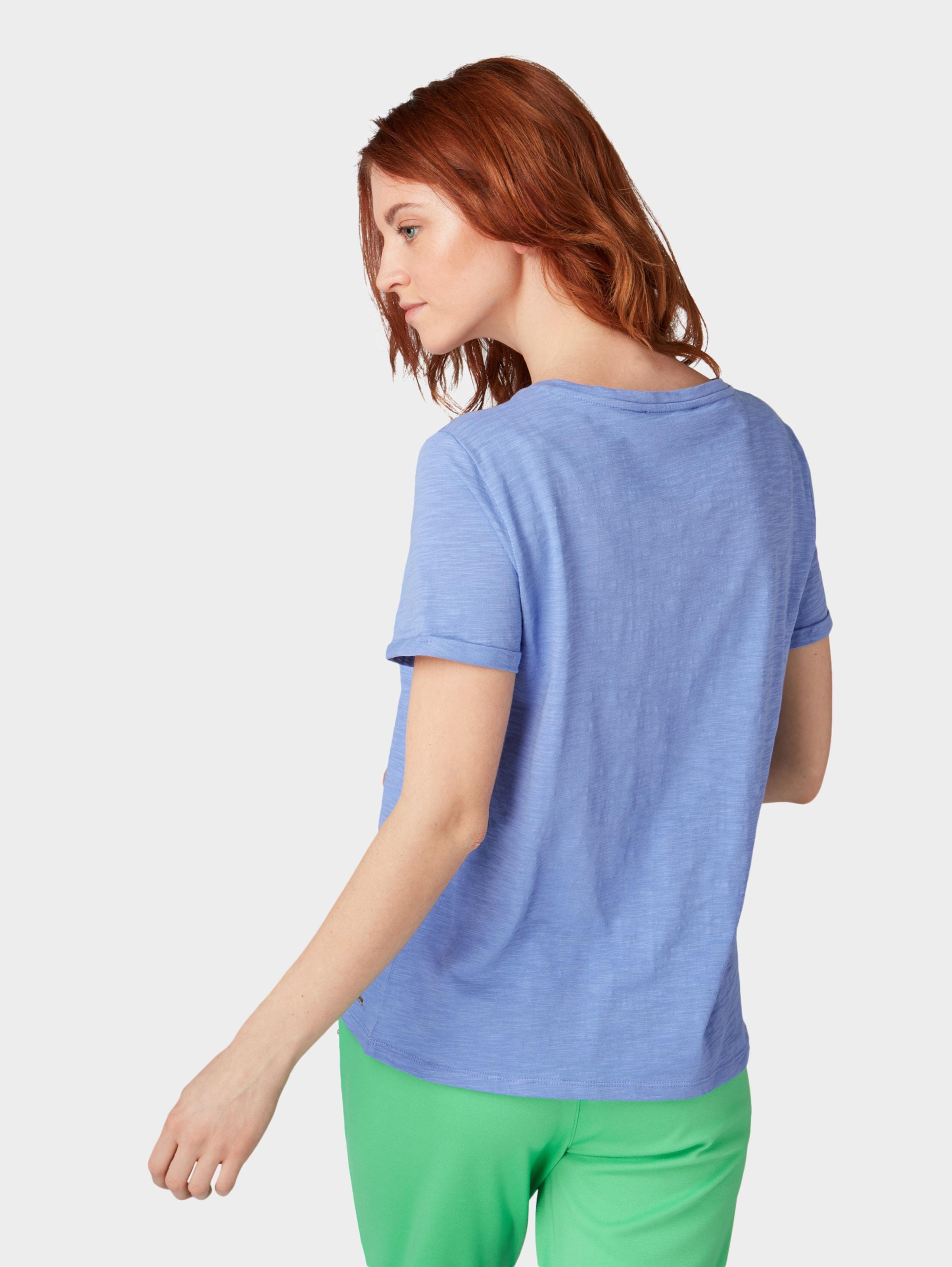 RoyalblauGelb T shirt Denim Tom Tailor In LR5Aj34q