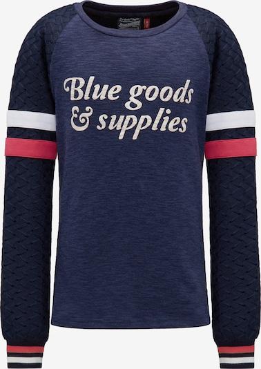 Petrol Industries Langarmshirt in blau / nachtblau / dunkelpink / weiß, Produktansicht