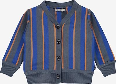 IMPS&ELFS Gebreid vest 'New Orleans' in de kleur Blauw / Duifblauw / Lichtbruin, Productweergave