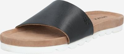 MEXX Pantofle 'Ebba' - hnědá / černá / bílá, Produkt