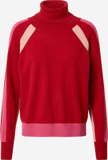 DELICATELOVE Pulover 'Bini' | bež / roza / rdeča barva, Prikaz izdelka