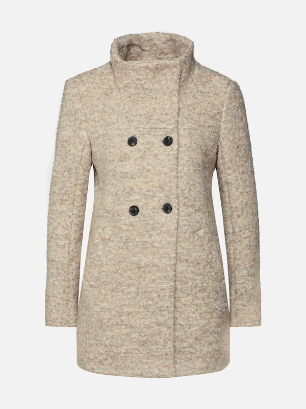 only wintermantel 39 onlsophia boucle wool coat cc 39 in beige cr me about you. Black Bedroom Furniture Sets. Home Design Ideas