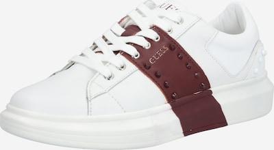 GUESS Baskets basses 'Salerno' en rouge / rouge sang / blanc, Vue avec produit