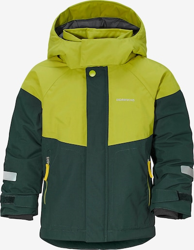 Didriksons Skijacke 'Lun' in apfel / dunkelgrün, Produktansicht