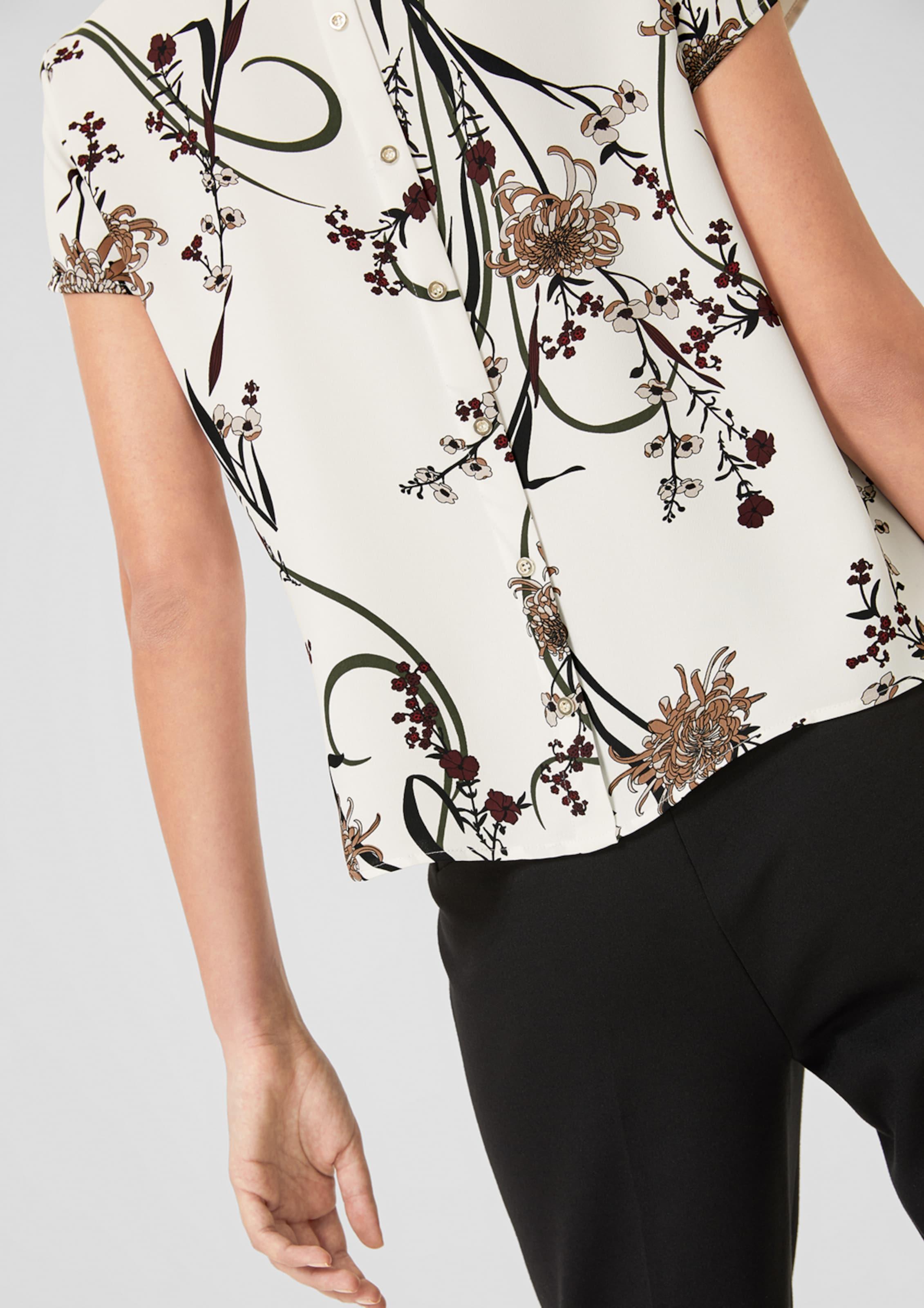 Feminine oliver Satinbluse Weiß In Label S Black shQdBotrxC