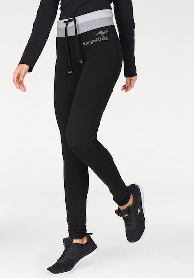 KangaROOS Leggings in graumeliert / schwarz / weißmeliert, Modelansicht