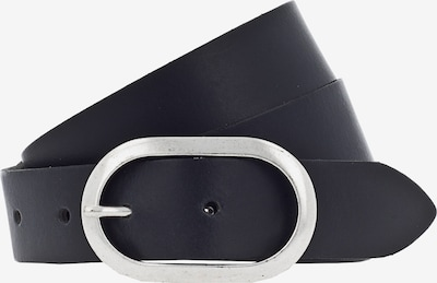 VANZETTI Vöö 'Oval 3cm' must / Hõbe, Tootevaade