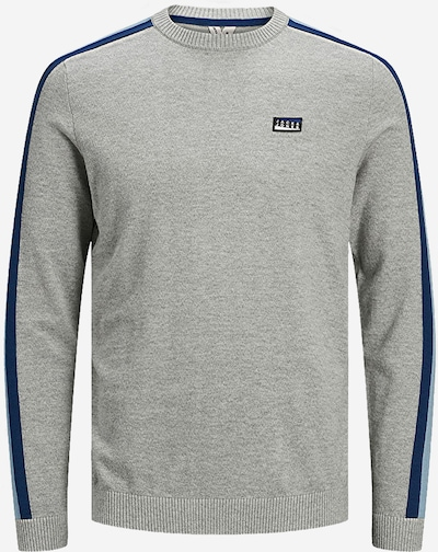 JACK & JONES Svetr 'JCOBADGE KNIT CREW NECK' - šedá, Produkt