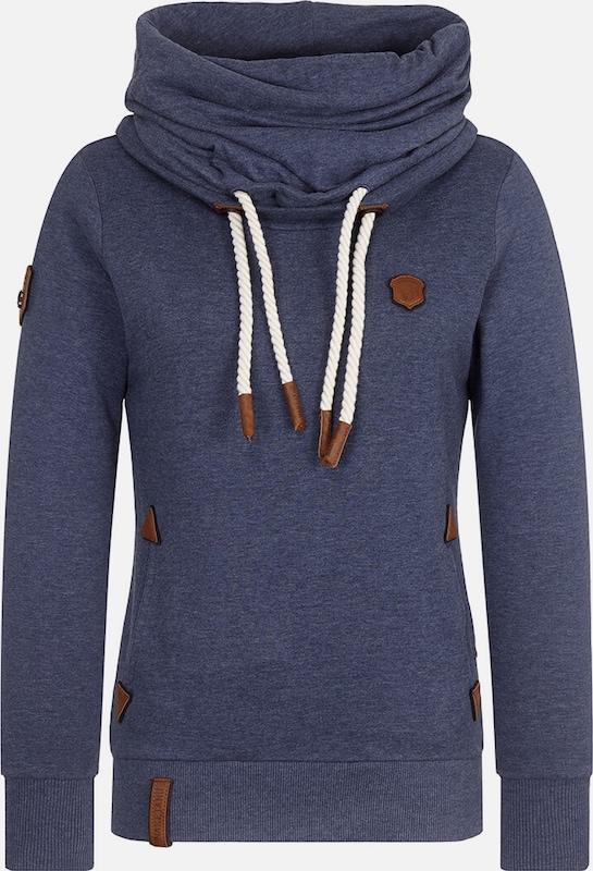Naketano Sweatshirt in blaumeliert  Freizeit, schlank, schlank