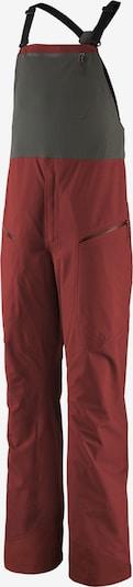 PATAGONIA Pantalon outdoor 'Bibs' en gris / rouge, Vue avec produit