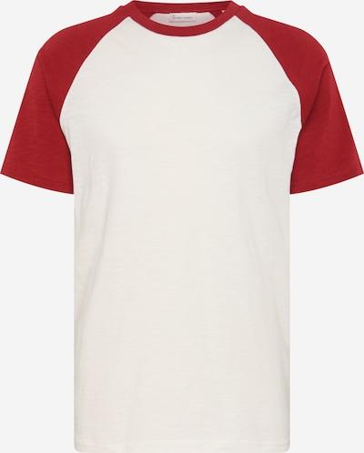 By Garment Makers T-Shirt 'Sven' in weinrot / weiß, Produktansicht