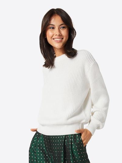 minimum Pullover 'Mikala' in creme / weiß, Modelansicht