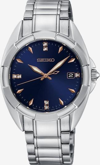 SEIKO Uhr in navy / bronze / silber, Produktansicht