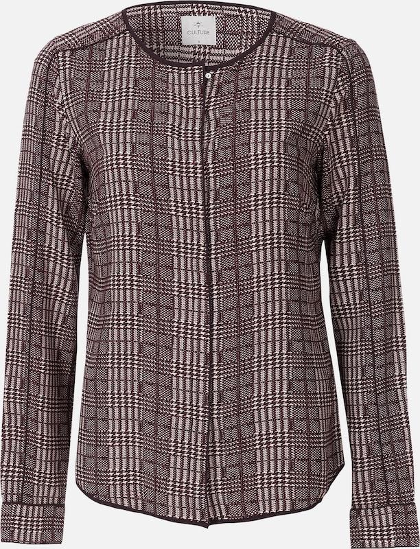 CULTURE Blause in burgunder   weiß  Markenkleidung für Männer und Frauen