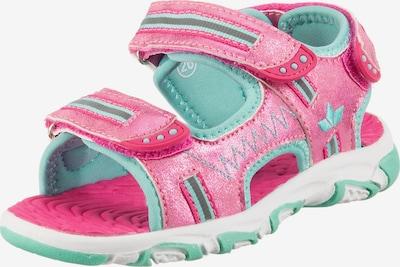 LICO Outdoorsandale 'Crispy V' in hellblau / pink, Produktansicht