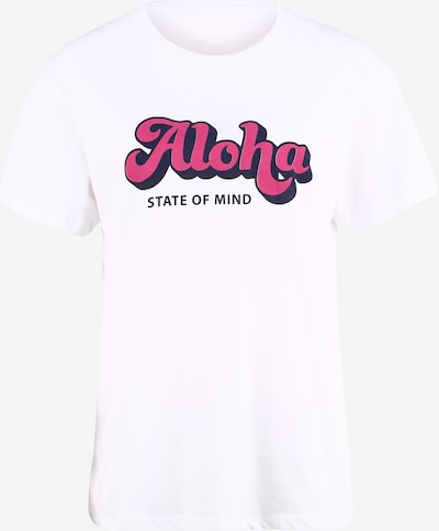 Hey Honey Functioneel shirt 'Aloha' in de kleur Fuchsia / Wit, Productweergave