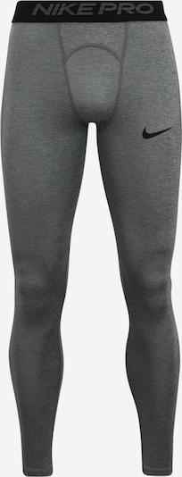 NIKE Sportovní kalhoty 'Pro' - šedá: Pohled zepředu